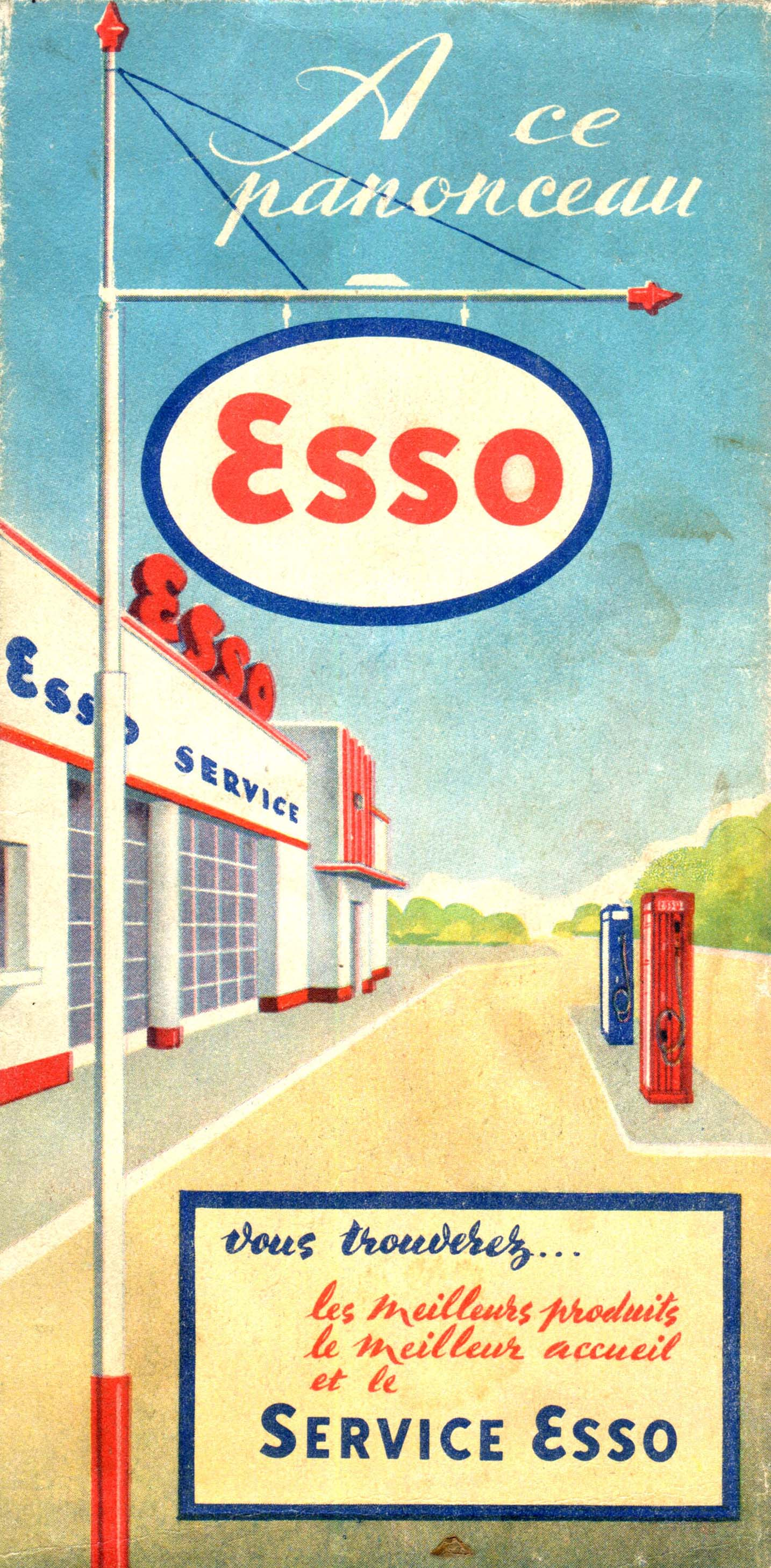 les stations service esso dans les annees 1950. Black Bedroom Furniture Sets. Home Design Ideas