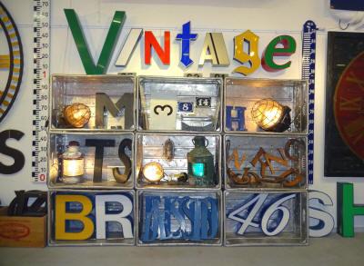 march de la lettre vintage et projecteur ancien 2015. Black Bedroom Furniture Sets. Home Design Ideas