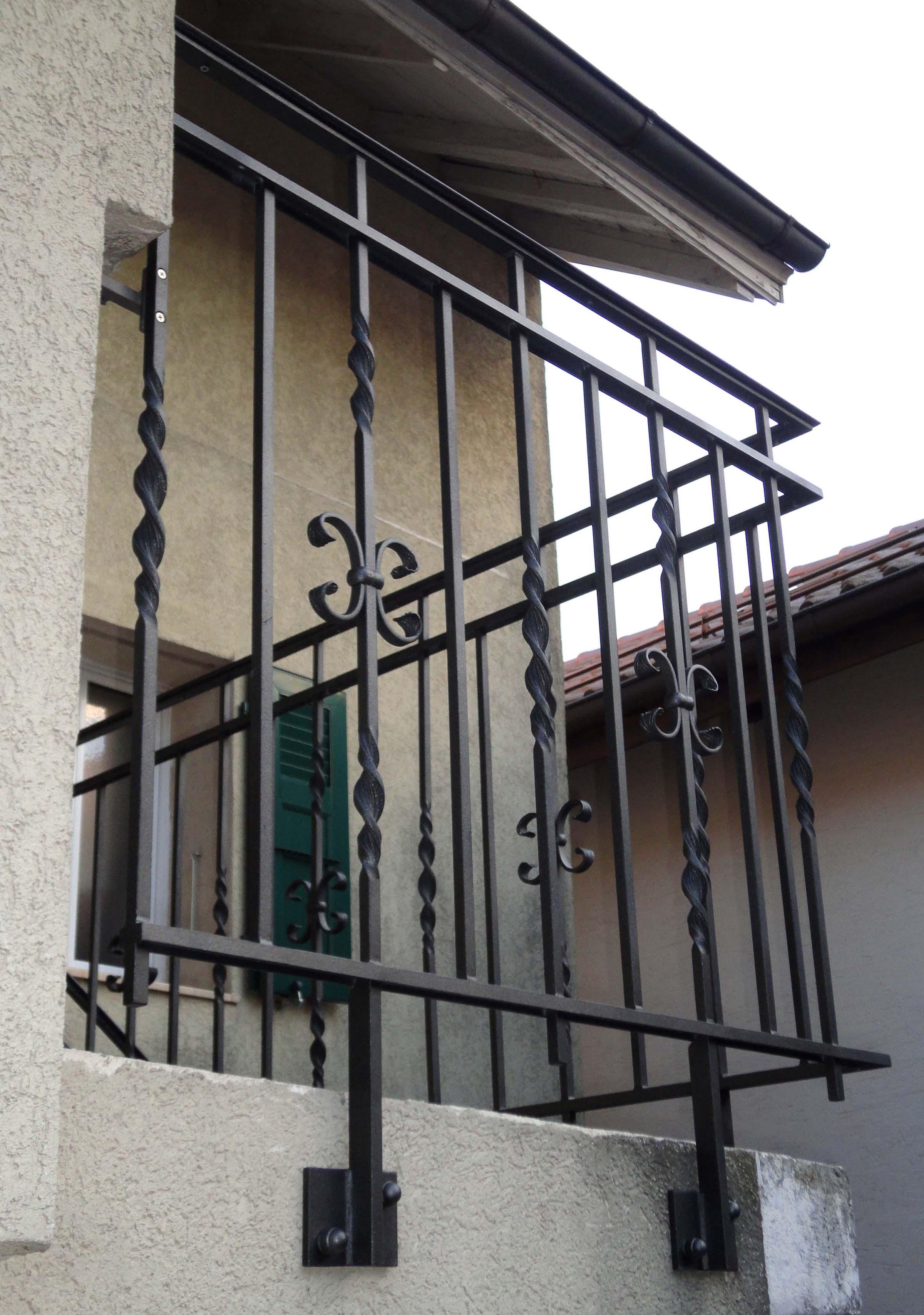 Ouvrages m talliques d j r alis s par schul m tal - Barriere en fer pour terrasse ...