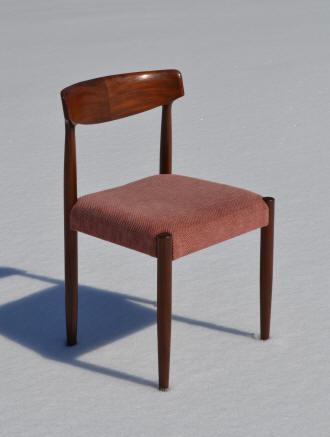 chaise de style danois annes 1960 mais de fabrication suisse girsberger beau design du raccord du dossier aux montants tissus assise bois en bon - Chaise Annee 70