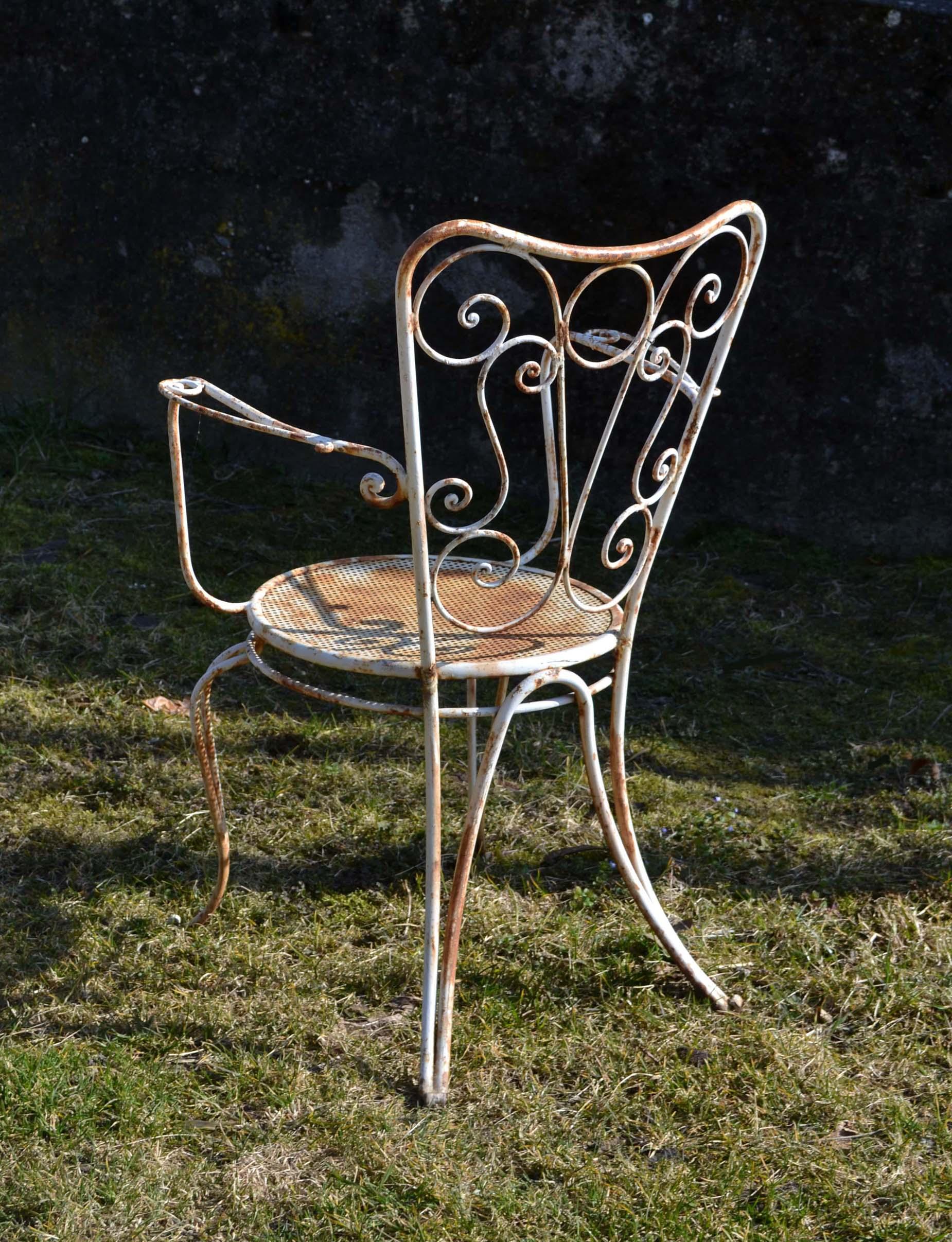 Mobilier de jardin ancien et objets en fer brocante d co - Chaises de jardin en fer ...