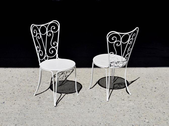 Romantique De Chaise Metal Blanc Jardin ymN0Pn8Ovw