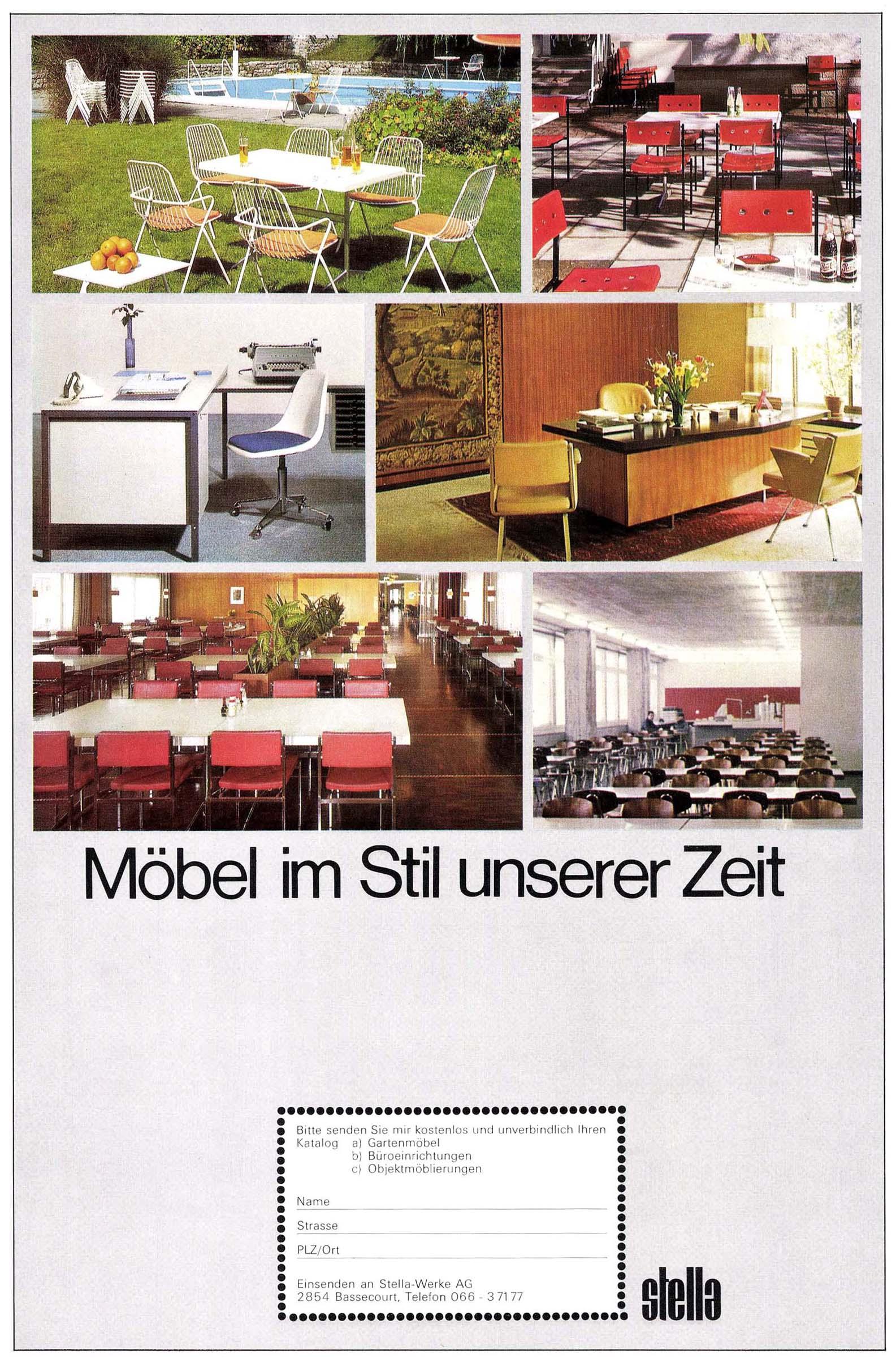 Stella Bassecourt Chaises Vintage Fabrication Suisse # Table De Jardin Bigla