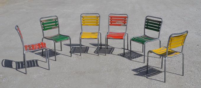 Embru Bigla mobilier d\'extérieur tubulaire vintage Suisse