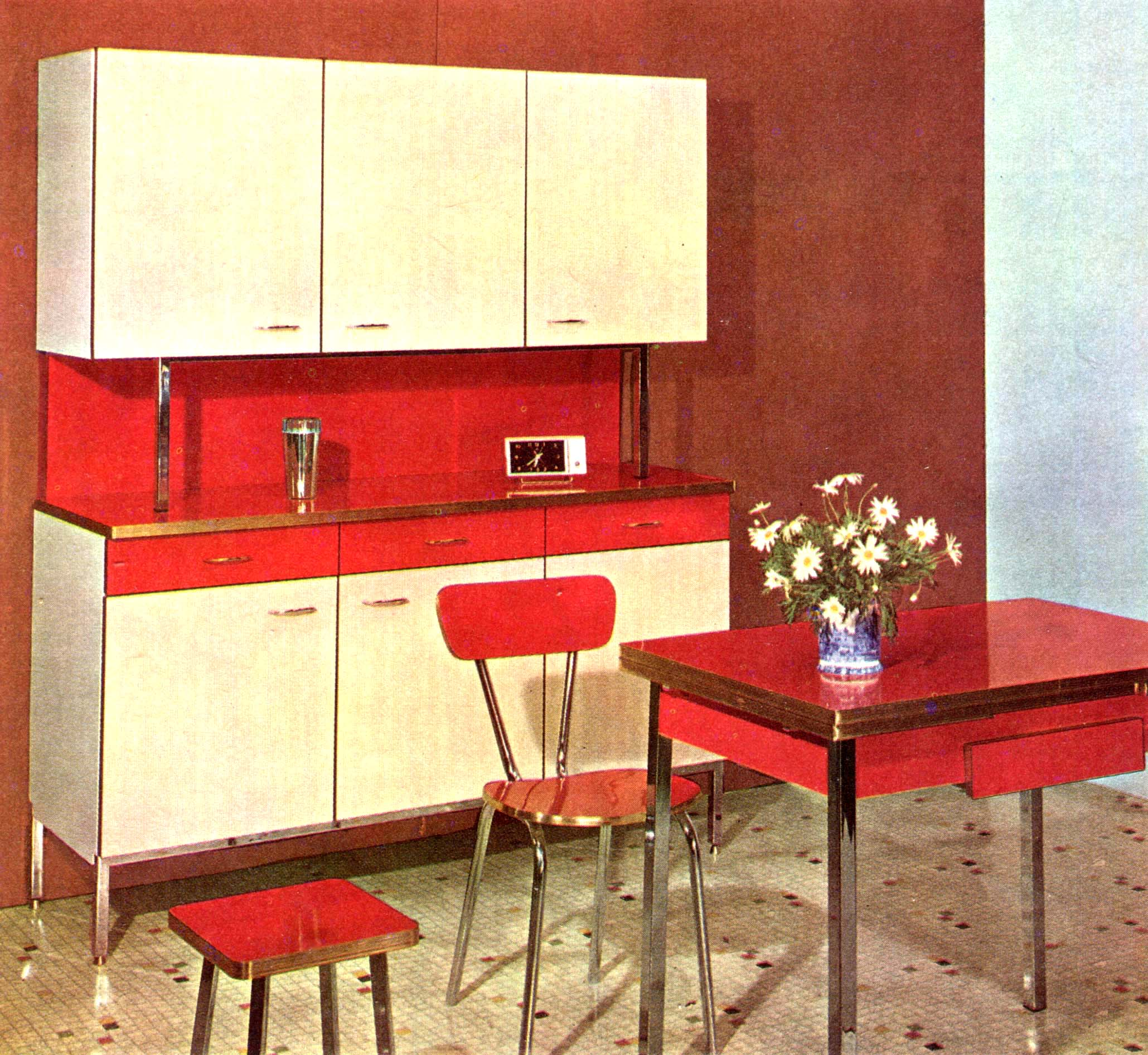 mobilier vintage en formica le style populaire des ann es 1960. Black Bedroom Furniture Sets. Home Design Ideas