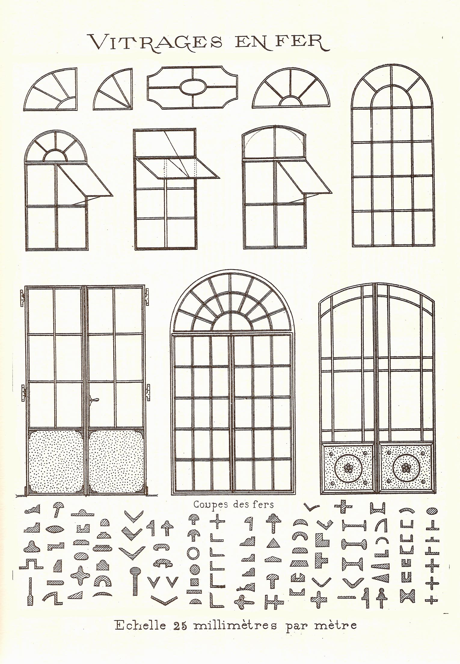 Portes et fen tre d 39 poque en fonte et en vieux bois for Fenetre a fer maille et verre dormant