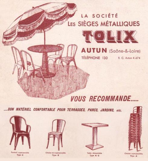Chaise Tolix Type A Une Seule Pice Dispo Un Classique Du Design Industriel Cr En 1934 Par Xavier Pauchard Et Fabriqu Autun