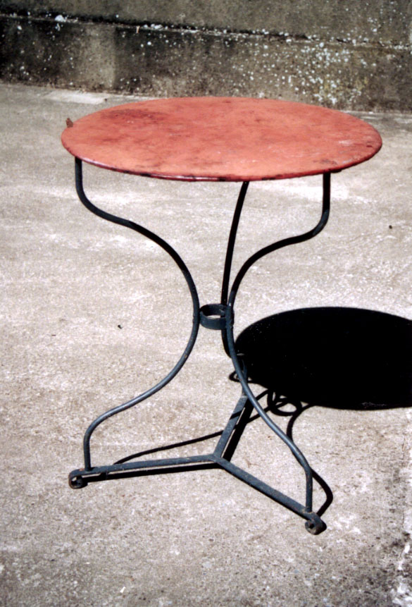 Awesome table et chaise de jardin ancienne ideas awesome for Table jardin fer