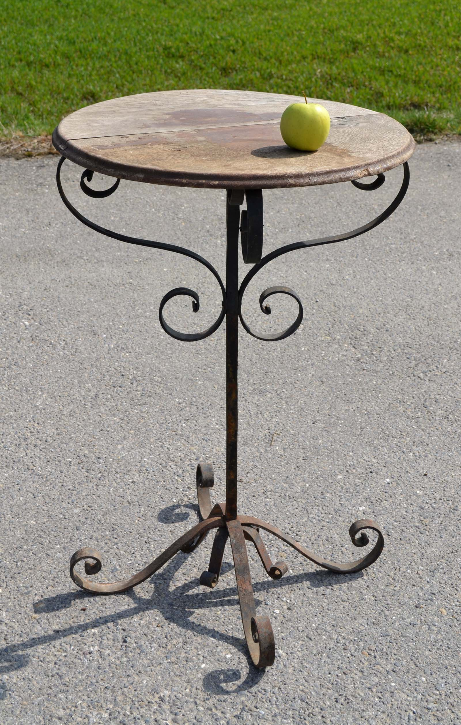 Table Fer Forge Plateau Bois Maison Design