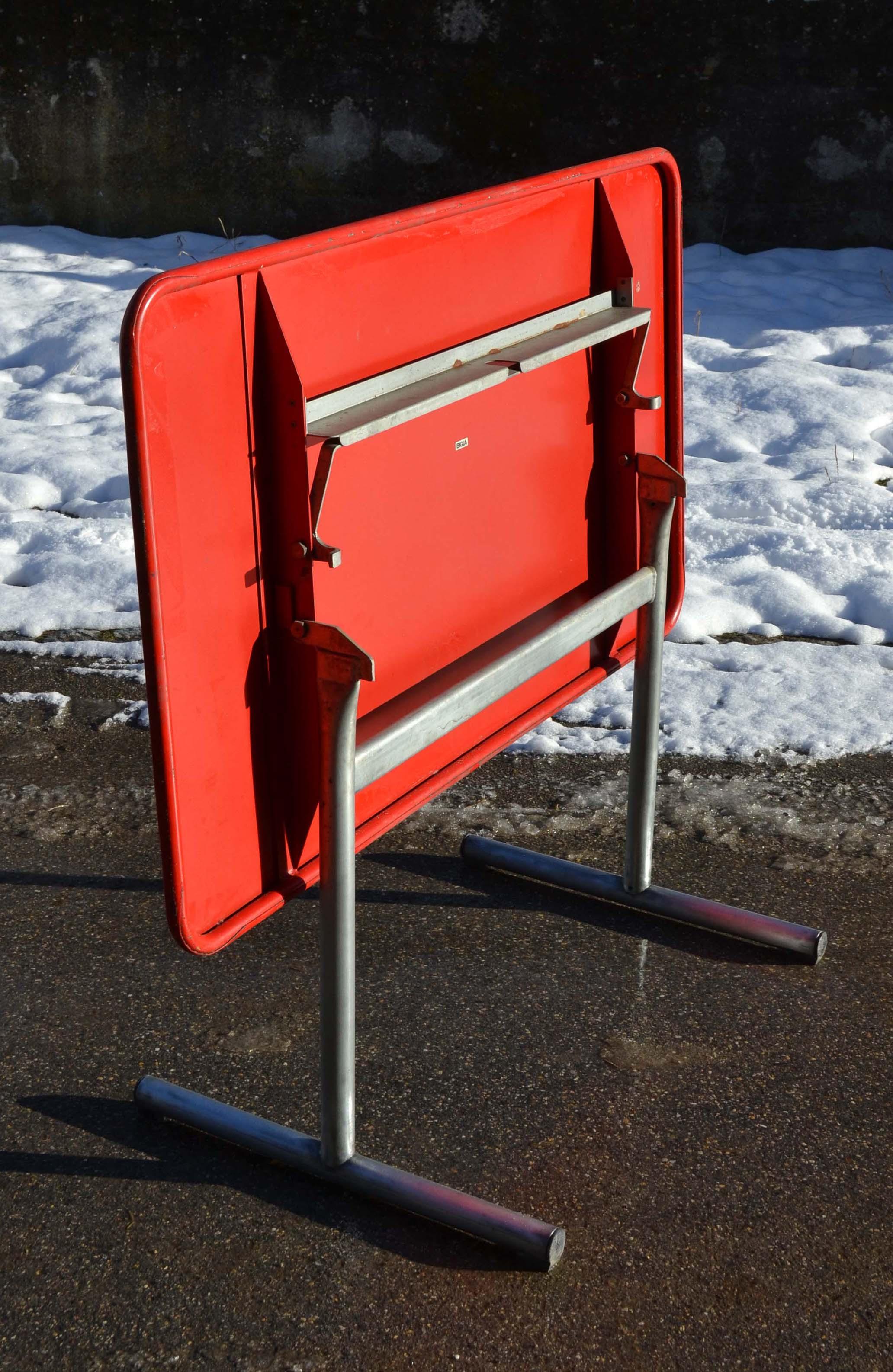 Embru bigla mobilier d 39 ext rieur tubulaire vintage suisse for Table exterieur 120x70