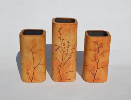 grands vases hauts en bois