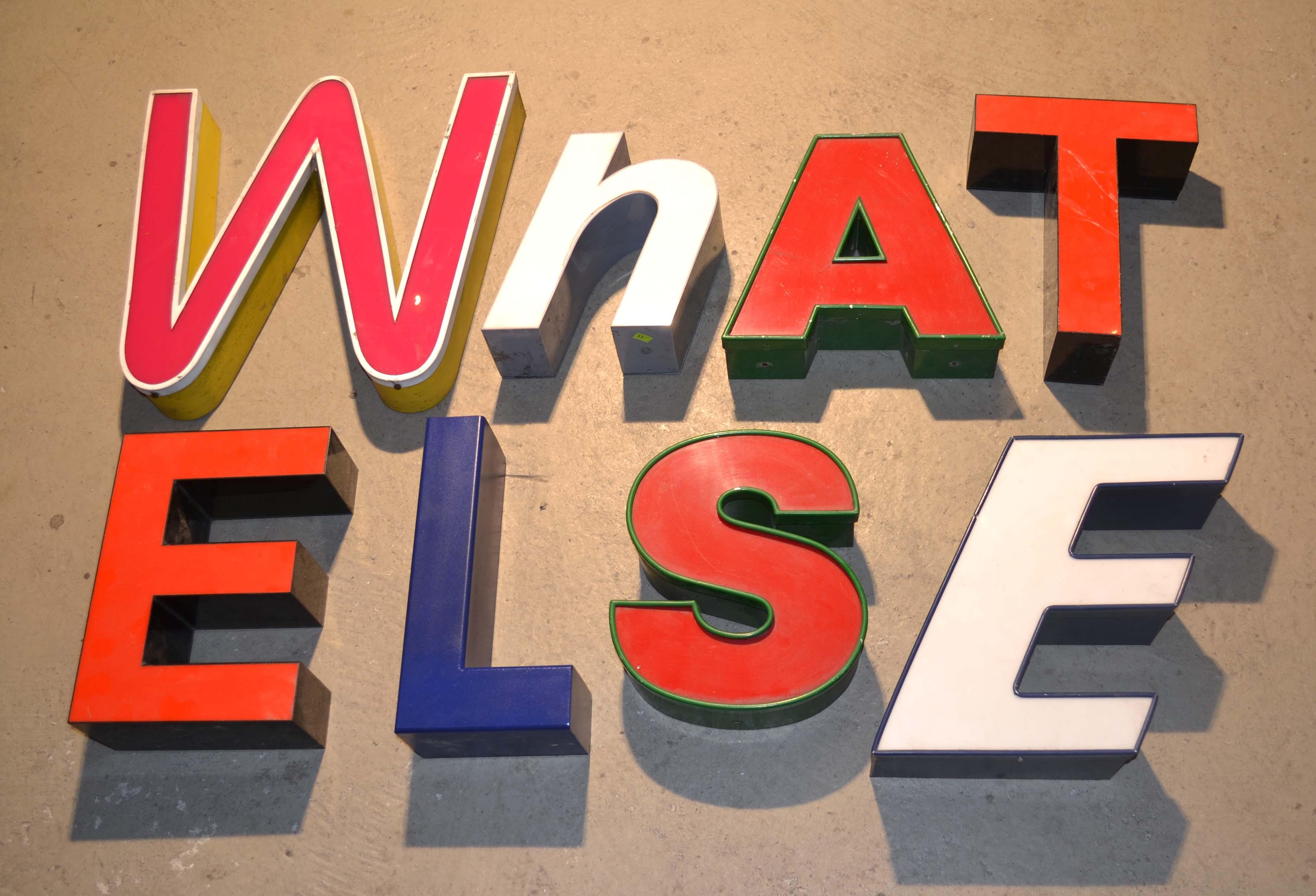 Lettres d 39 enseigne pour deco vintage - Lettre enseigne vintage ...