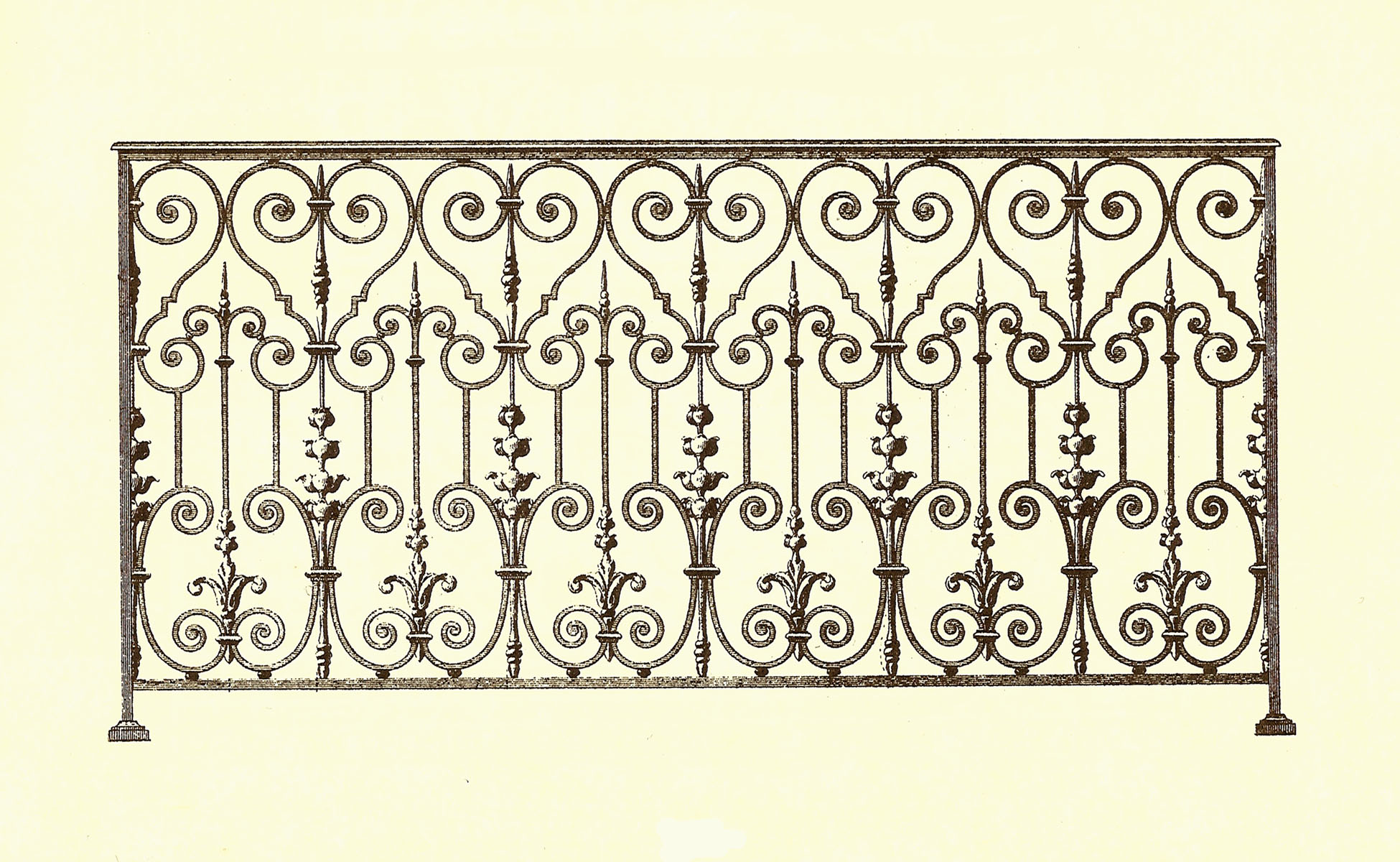 Balustrades De Balcon Anciennes Fer Forgé