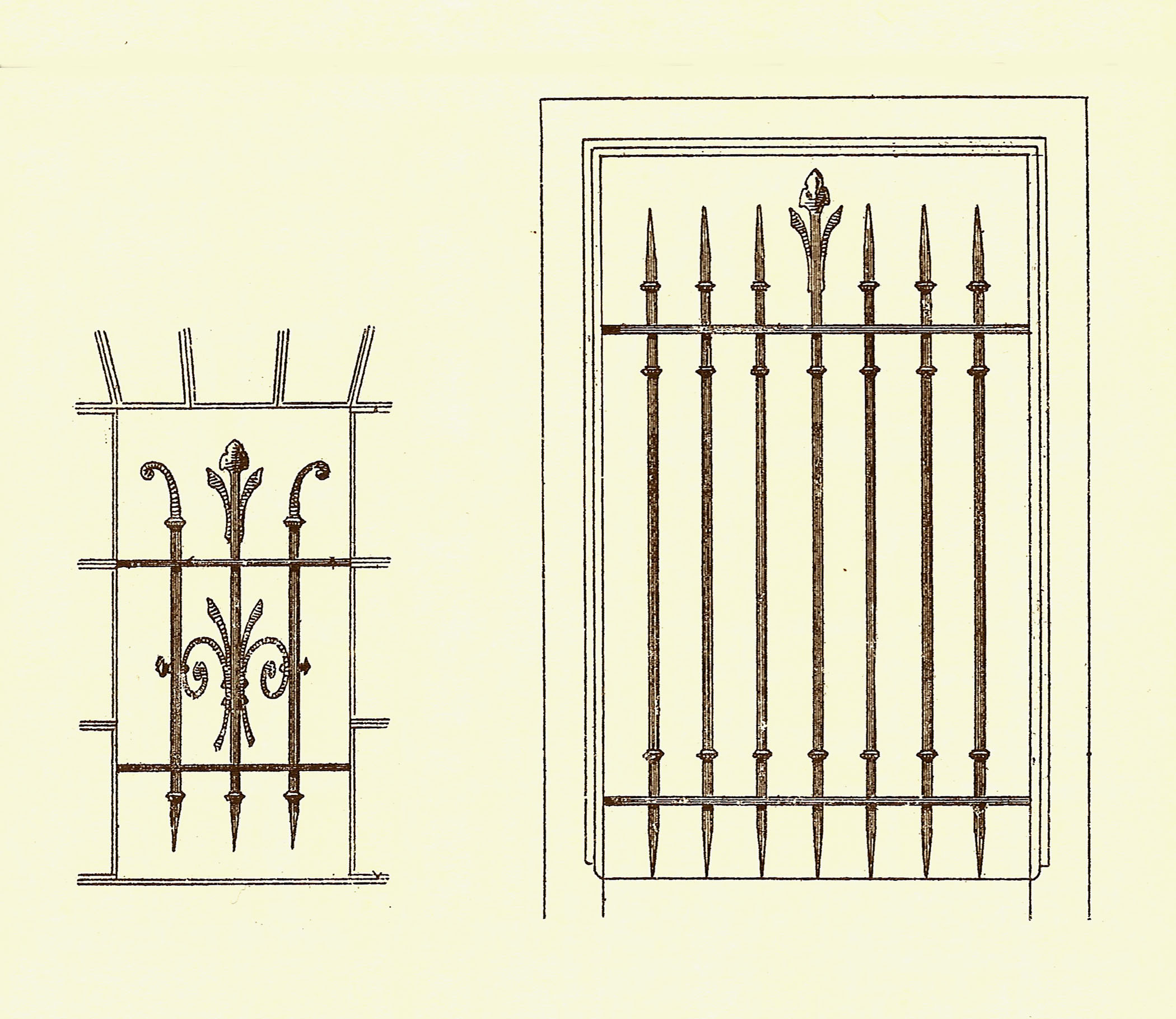 grilles de protection de fen tres anciennes. Black Bedroom Furniture Sets. Home Design Ideas